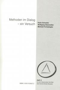 K. Schaefer Methoden im Dialog